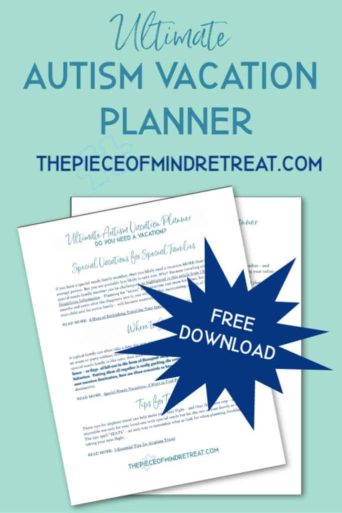 Ultimate Autism Vacation Planner