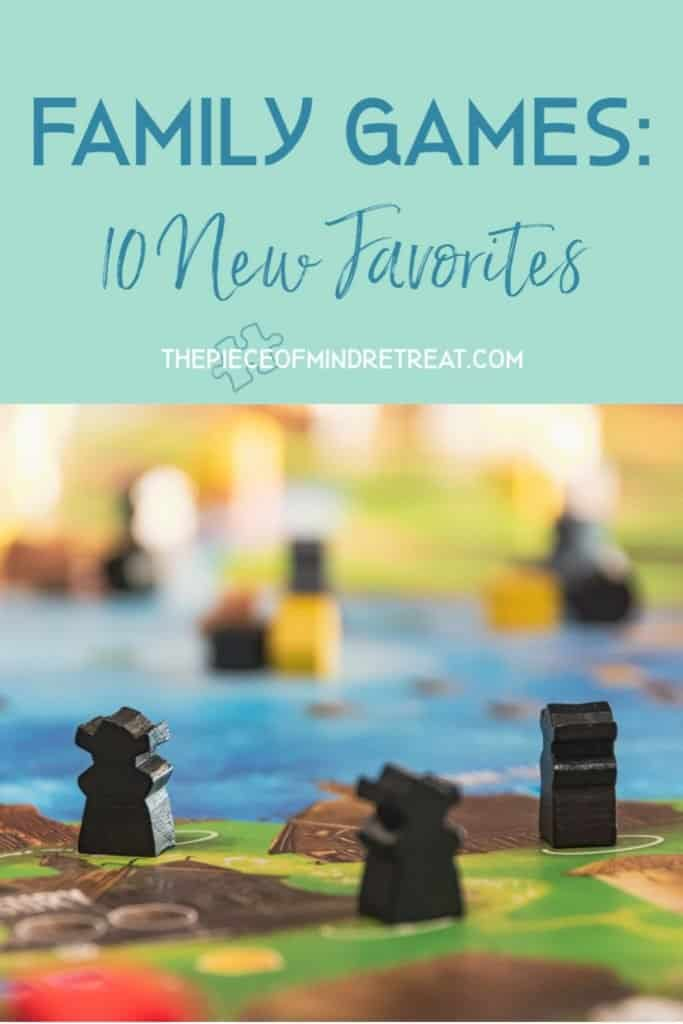 Family Games: 10 New Favorites