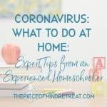 Coronavirus what to do at home