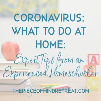 Coronavirus what to do at home