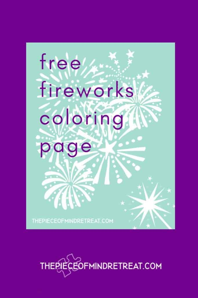 free fireworks coloring page